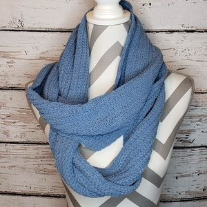 NWT J. Jill Ribbed Chenille Infinity Scarf Blue